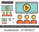movie time vector line icon... | Shutterstock .eps vector #577841017