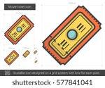 movie ticket vector line icon... | Shutterstock .eps vector #577841041