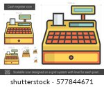 cash register vector line icon... | Shutterstock .eps vector #577844671