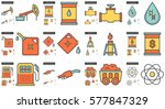 ecology vector line icon set... | Shutterstock .eps vector #577847329