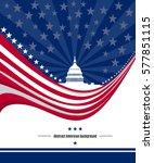 patriotic american background... | Shutterstock .eps vector #577851115