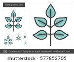 plant growing vector line icon... | Shutterstock .eps vector #577852705