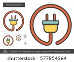 electric plug vector line icon... | Shutterstock .eps vector #577854364
