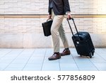 young man carrying a carry bag... | Shutterstock . vector #577856809