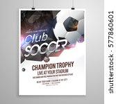 soccer sports brochure flyer... | Shutterstock .eps vector #577860601