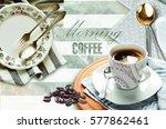 colorful vintage ceramic tiles... | Shutterstock . vector #577862461