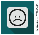 sad face emoji vector icon | Shutterstock .eps vector #577868695