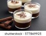 no bake layered chocolate... | Shutterstock . vector #577869925