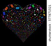 free tag fireworks with heart... | Shutterstock .eps vector #577871521