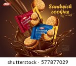 sandwich cookies ads  different ... | Shutterstock .eps vector #577877029