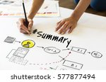 data information summary... | Shutterstock . vector #577877494