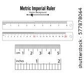 ruler inch cm vector.... | Shutterstock .eps vector #577878064