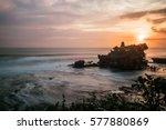 tender sea sunset near famous... | Shutterstock . vector #577880869