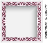 square photo frame with lace... | Shutterstock .eps vector #577889899