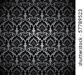 Stock vector seamless wallpaper pattern black 57789523
