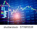 statistic graph of stock market ... | Shutterstock . vector #577895539