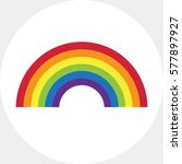 rainbow icon | Shutterstock .eps vector #577897927