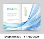 template brochure.abstract blue ... | Shutterstock .eps vector #577899025