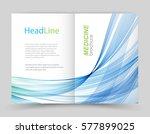 template brochure.abstract blue ... | Shutterstock .eps vector #577899025