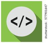 html brackets vector icon | Shutterstock .eps vector #577901647