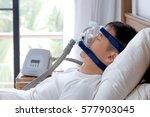 obstructive sleep apnea therapy ... | Shutterstock . vector #577903045