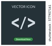 html brackets vector icon | Shutterstock .eps vector #577907161