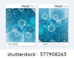 scientific brochure design... | Shutterstock .eps vector #577908265