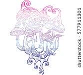 group of decorative mushrooms | Shutterstock .eps vector #577911301