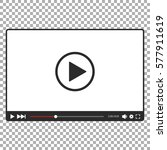video player for web in black... | Shutterstock .eps vector #577911619