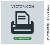 printer vector icon | Shutterstock .eps vector #577911637