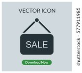 sale sign vector icon | Shutterstock .eps vector #577911985
