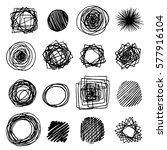 set of pencil doodle borders.... | Shutterstock .eps vector #577916104