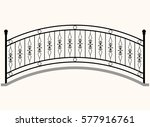 Arch Bridge Railing Vector...