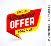 special weekend offer sale... | Shutterstock .eps vector #577925659