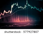 stock market graph chart in the ... | Shutterstock . vector #577927807