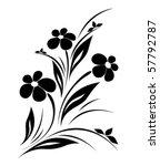 Stock vector vector flower pattern on white background 57792787