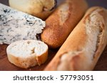baguette and blue cheese | Shutterstock . vector #57793051