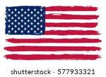 grunge usa flag. | Shutterstock .eps vector #577933321