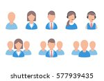 user profile vector icons set ... | Shutterstock .eps vector #577939435