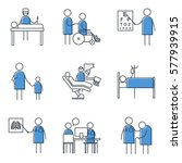 set of simple medicine icons ... | Shutterstock .eps vector #577939915