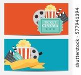 gift voucher template for your... | Shutterstock .eps vector #577941394