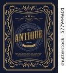 vintage frame border antique... | Shutterstock .eps vector #577944601