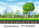 seamless summer nature... | Shutterstock .eps vector #577945459