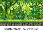 seamless cartoon nature... | Shutterstock .eps vector #577945861