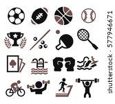 sport icon set   Shutterstock .eps vector #577946671