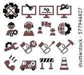technical support icon set | Shutterstock .eps vector #577946827