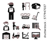 supply chain icon set | Shutterstock .eps vector #577947037