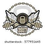 vector sport emblem for the gym ... | Shutterstock .eps vector #577951645