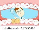 Cute Cartoon Dentist Check...