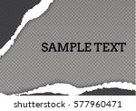 ripped paper transparent... | Shutterstock .eps vector #577960471